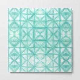 Paper Shibori Aqua Metal Print