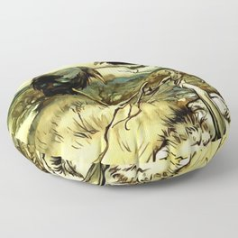 The Two Crows Floor Pillow