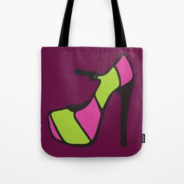 High Heel Parade - Pink & Green Tote Bag