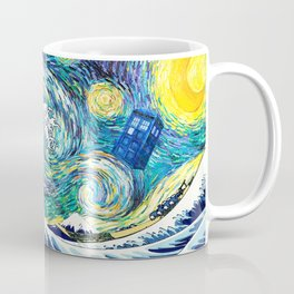 Tardis Starry Wave Night Coffee Mug