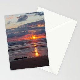 piece of wood on the atlantic ocean Stationery Cards