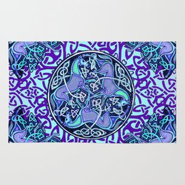 7 Blue Celtic Horses Rug