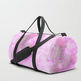 Abstract pink thistle mandala Duffle Bag