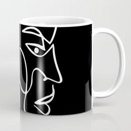 Minimal Line Twin Face Coffee Mug