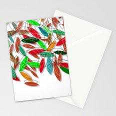 colored leaves Stationery Cards