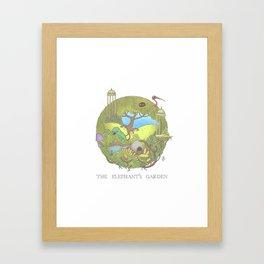 The Elephant's Garden - Version 1 Framed Art Print