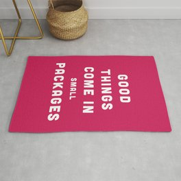 Good Things / Small Packages Funny Quote Rug