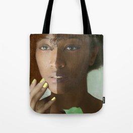 Colorism Split-Face Black Woman Tote Bag