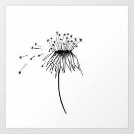 DANDELION ILLUSTRATION Art Print
