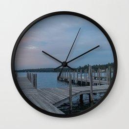 Weirs Beach Docks Wall Clock