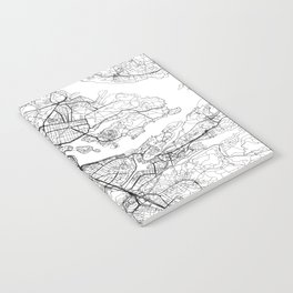 Stockholm White Map Notebook