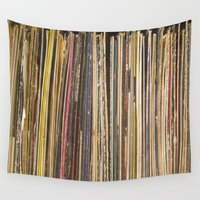 records Wall Tapestries featuring Records by Cassia Beck