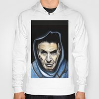 spock Hoodies featuring Spock by James Kruse