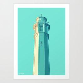 San Francisco Towers - 05 - Alcatraz Lighthouse Art Print