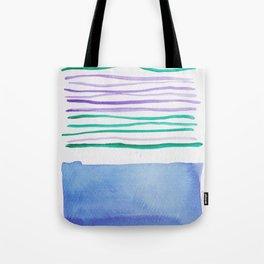 21   |181026 Lines & Color Block | Watercolor Abstract | Modern Watercolor Art Tote Bag