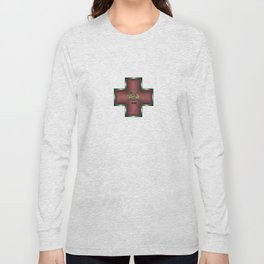 """Chaos"" Chinese Calligraphy on Celtic Cross Long Sleeve T-shirt"
