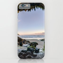 Photos USA Heceta Head Lighthouse Scenic Viewpoint, Oregon Sea caves Cliff Nature Sky Stones Cave Crag Rock stone iPhone Case