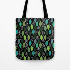Modern Abstract Leaf Pattern Tote Bag