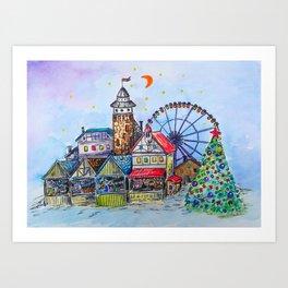 CHRISTMAS MARKET Art Print