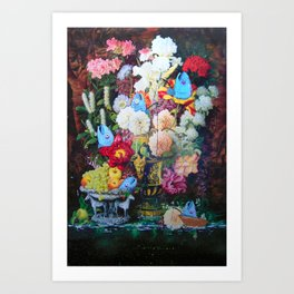 All the Trout Agreed, the Potted Plant Pools from the Great War Where the Best Fishing Spots for a 1 Art Print