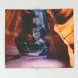 Slot Canyon Throw Blanket