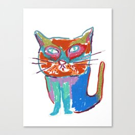 A seriously cool cat Canvas Print