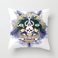 logo Throw Pillows featuring logo by Alexandr Nishikin