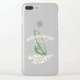 Windsurfing Rules Windsurfers Surfing Surfers Sailing Swim Swimming Gift Clear iPhone Case