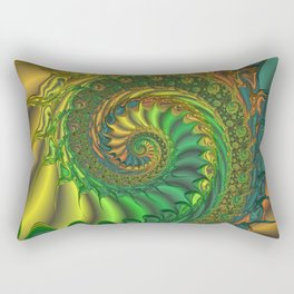 Dragon's Lair - Fractal Art Rectangular Pillow