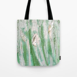 Spring garden in green and grey Tote Bag