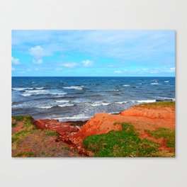 Rolling Waves in East Point PEI Canvas Print