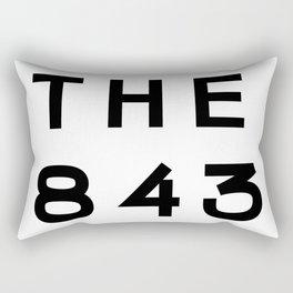 843 South Carolina Area Code Typography Rectangular Pillow