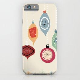 Retro Christmas Baubles iPhone Case