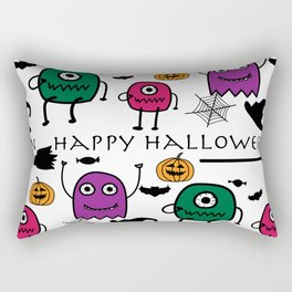 Monsters Halloween Rectangular Pillow