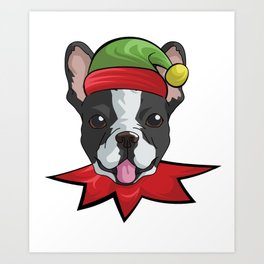 elfdog boston Art Print