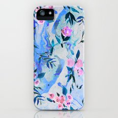 Floral Marble Swirl iPhone (5, 5s) Slim Case