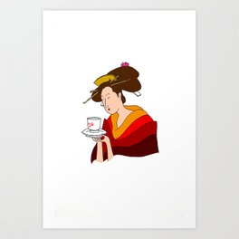 Morning Cha Art Print