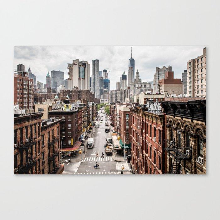 New York Nyc Skyline City Single Canvas Wall Art Picture: New York City Skyline (Brooklyn, Queens, Manhattan) Canvas
