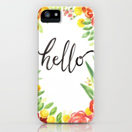 Hello Flowers & Succulents iPhone Case