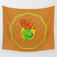 moose Wall Tapestries featuring Moose by Andrei Woodleg