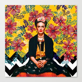 Frida Tropical Canvas Print