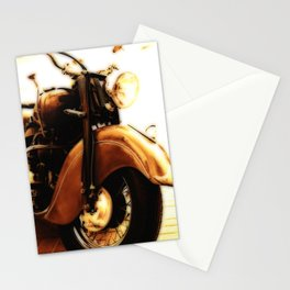 Motorcycle-Sepia-Poster Stationery Cards