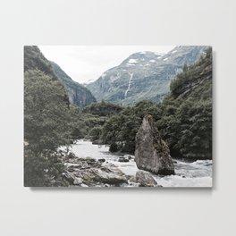 River & Stone Metal Print