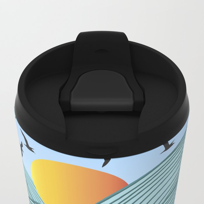 sea wave 4 Metal Travel Mug