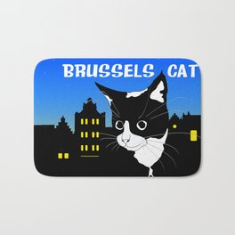 Brussels Cat, Chat de Bruxelles, Belgium Cat. Bath Mat