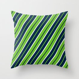 Seattle Football Color Pattern Throw Pillow