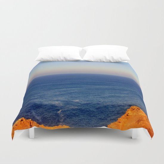 Beyond the blue Horizon Duvet Cover