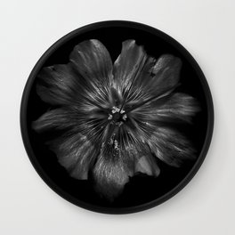 Backyard Flowers In Black And White 22 Wall Clock