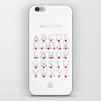 typo iPhone & iPod Skins featuring Node Typo by ErDavid