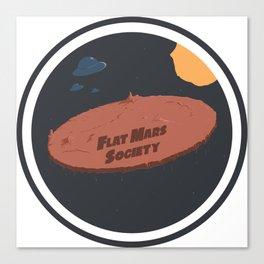 Flat Mars Society Canvas Print